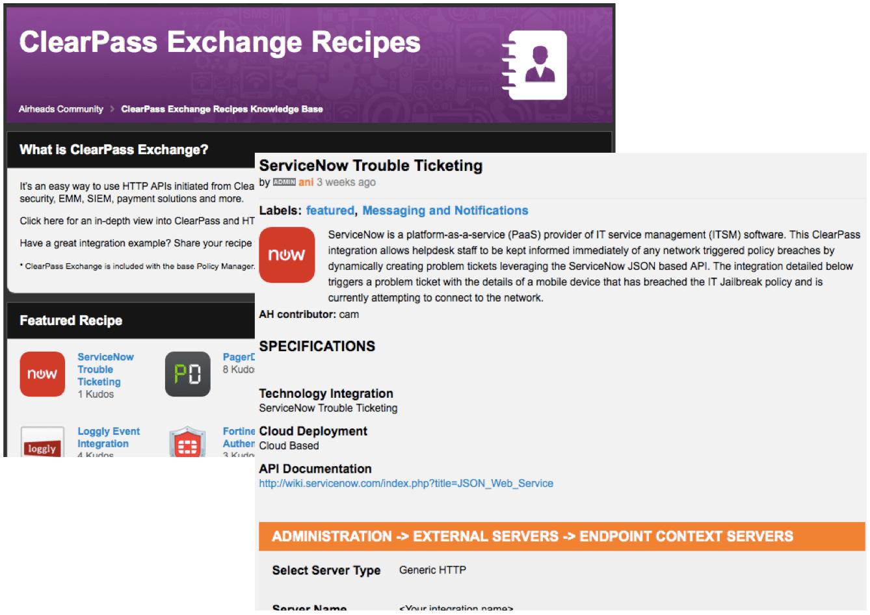 BAM! ClearPass Exchange Integration Recipes | Aruba Blogs
