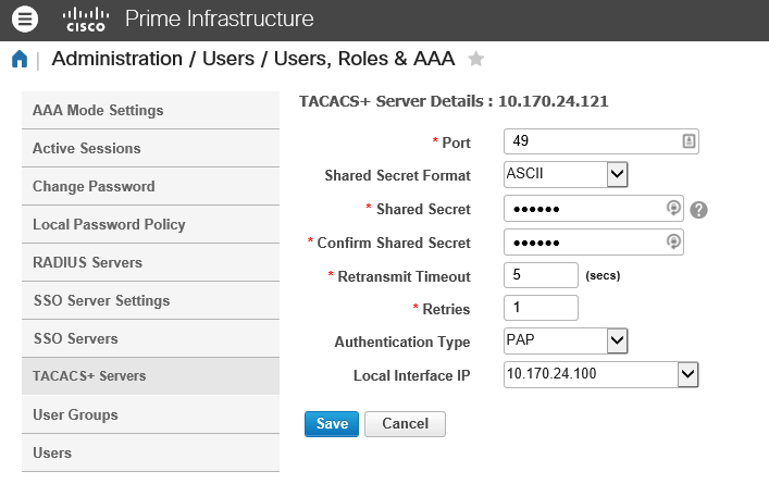 Authenticate Cisco Prime via ClearPass | Aruba Blogs