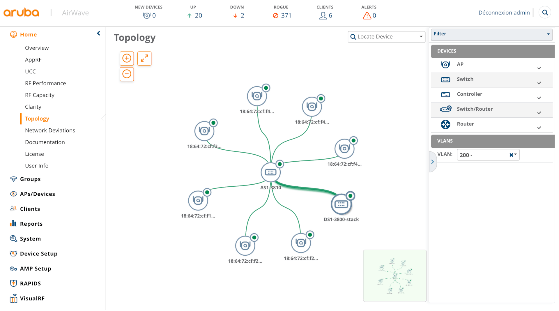 Filter your topology by VLAN