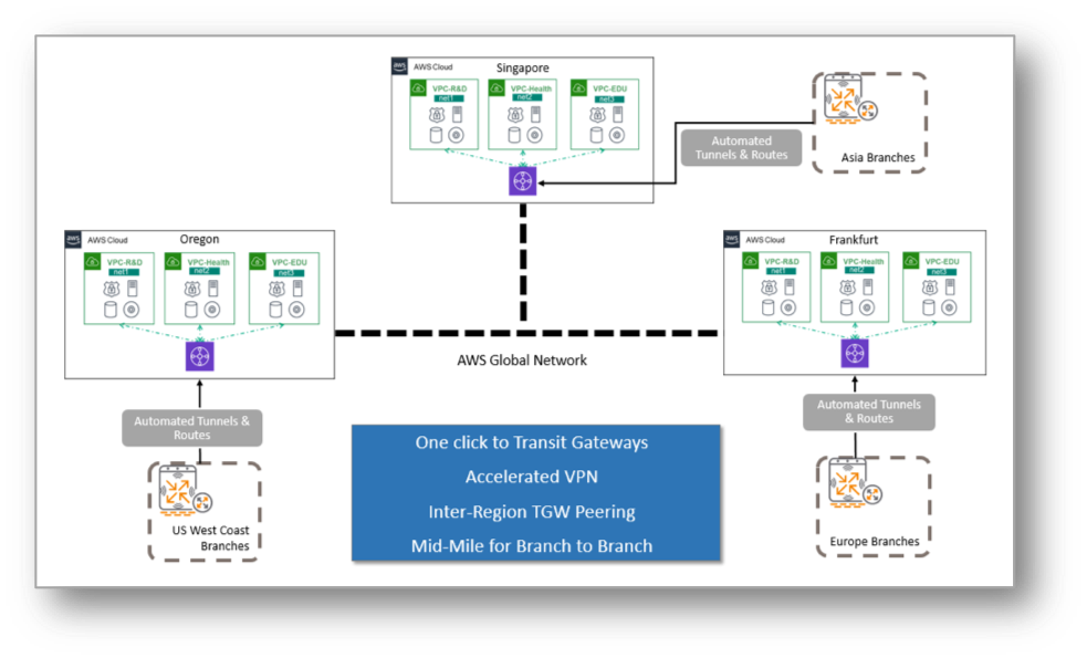 AWS Transit Gateway Network Manager