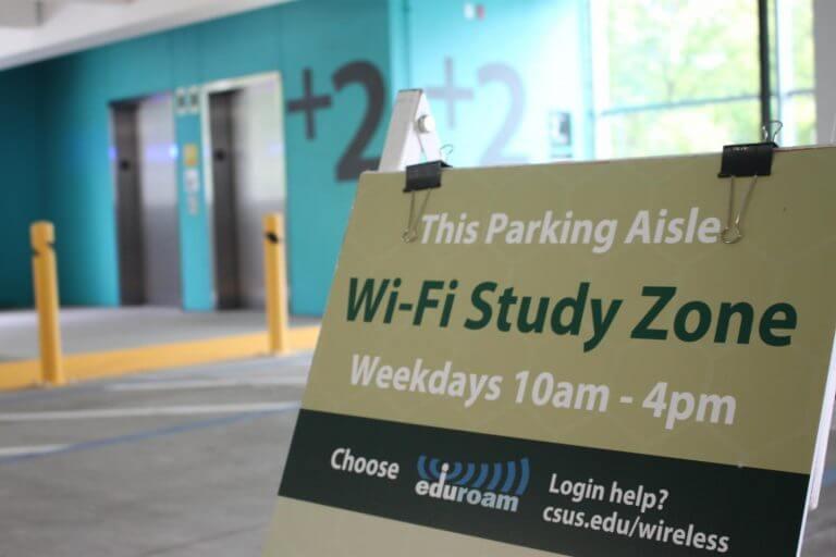 CSU Sacramento Wi-Fi Study Zone