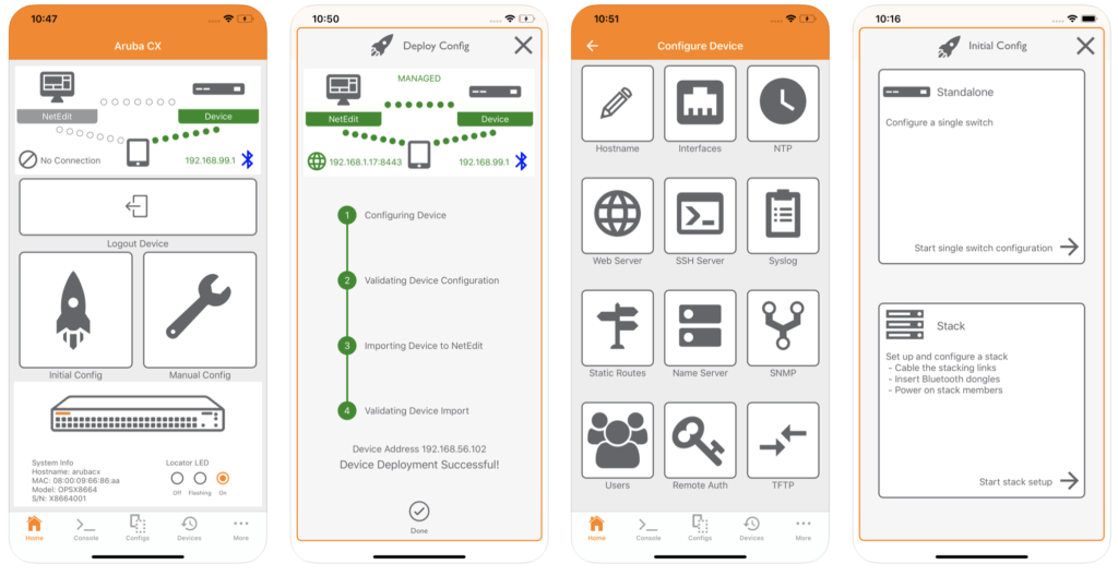 Aruba CX mobile app
