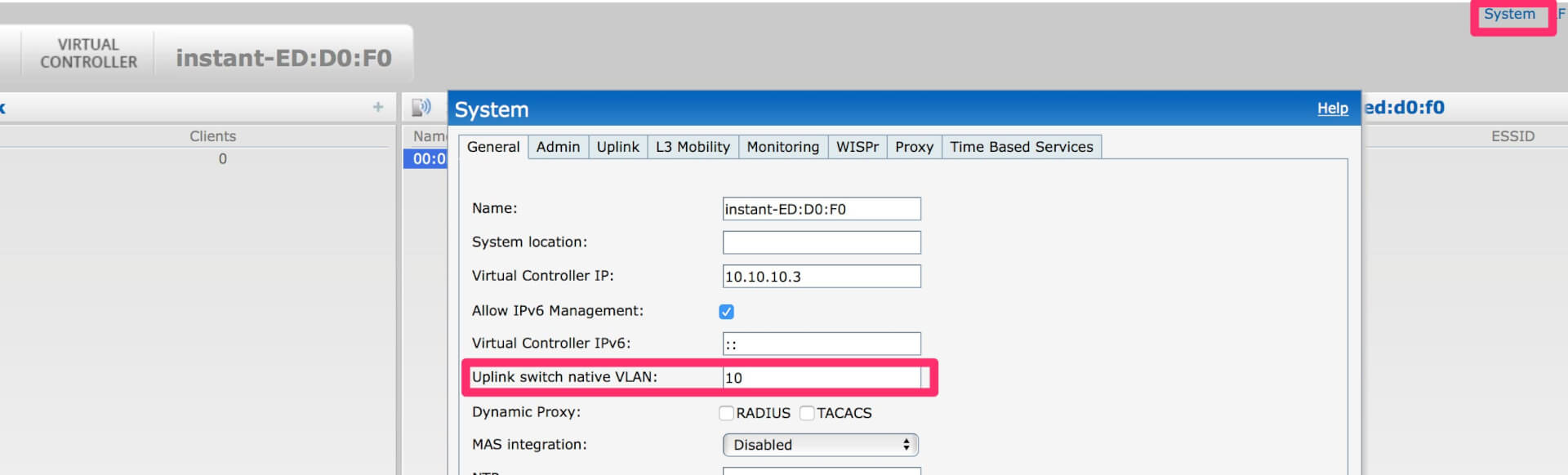 How to Change the Management VLAN for Aruba Instant | Aruba