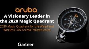 Aruba a Visionary Leader in the 2020 Gartner Magic Quadrant