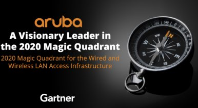Aruba a Visionary Leader in the 2020 Gartner Magic Quadrant