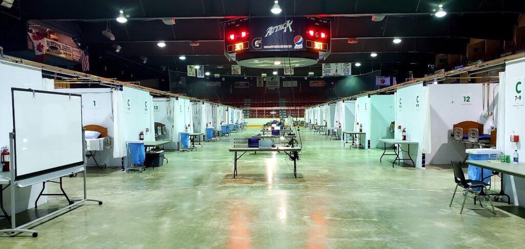 Grey Bruce Health Services field hospital hockey arena