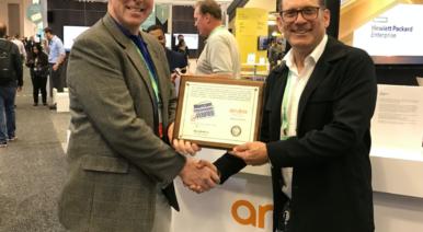 Receiving the Miercom Performance Verified Award