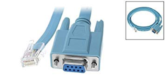 Rollover serial cable with RJ-45