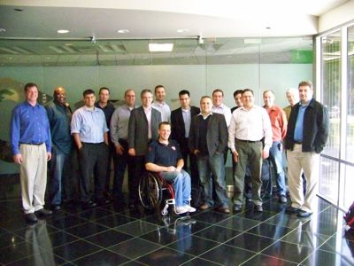 The first Tech Field Day event was held in November 2009. Delegates (L-R): Greg Knieriemen, John Obeto, Carlo Costanzo, Rod Haywood, Rick Vanover, Stephen Foskett, Nigel Poulton, Bas Raayman, Ed Saipetch, Simon Seagrave, Chris Evans, Devang Panchigar, Greg Ferro, John Hickson, Robin Harris and Rich Brambley.