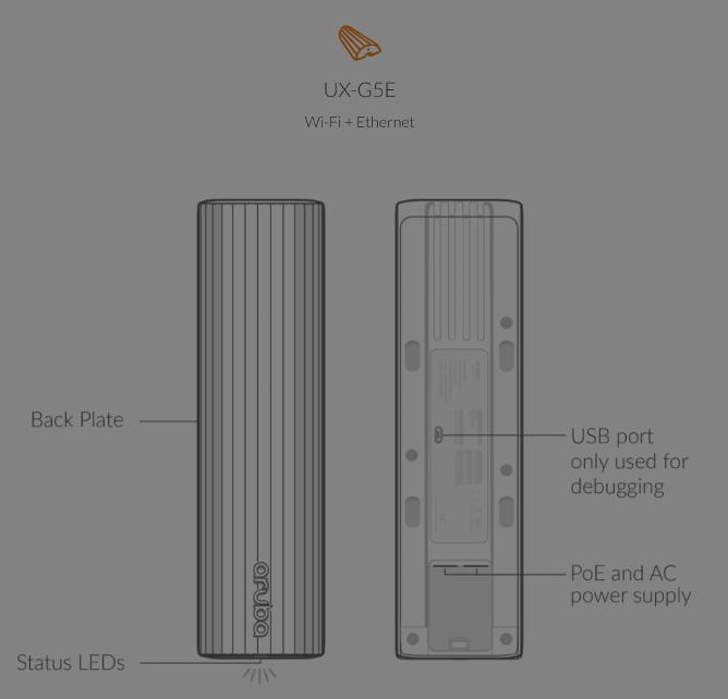 UX-G5E sensor front