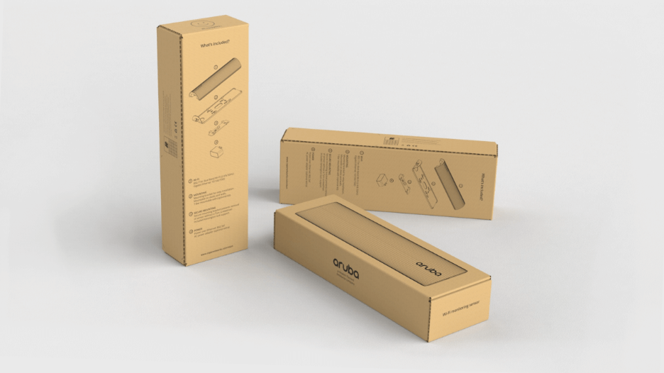 Packaging concept, similar to final packaging design.